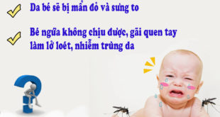 trẻ bị muỗi đốt