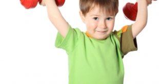 bé tập thể dục