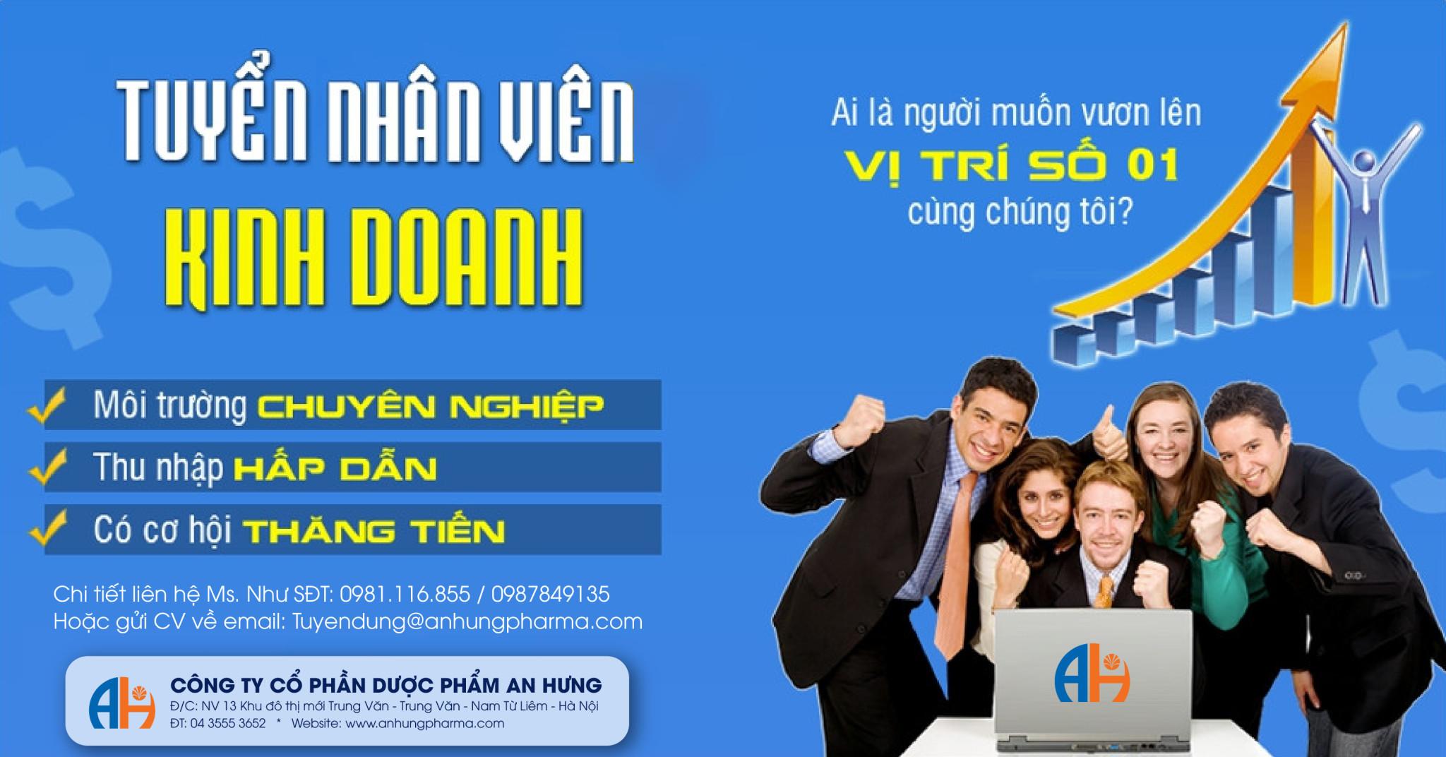 công ty An Hưng tuyển dụng nhân viên kinh doanh toàn miền bắc